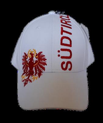 Kappe Südtirol + Adler, weiß