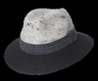 Murtalerhut 2färbig Schladminger grau - anthrazit