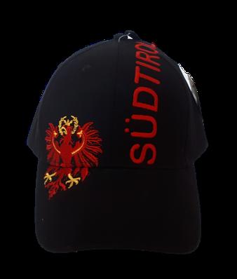 Kappe Südtirol + Adler, schwarz