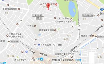 千葉市生涯学習センターの地図