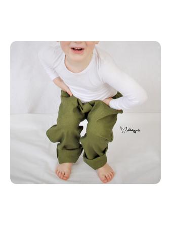Stapel Mitwachsende Hosen aus Baumwolljersey, Cordjersey und Sweatstoffen in Pertrolfarben