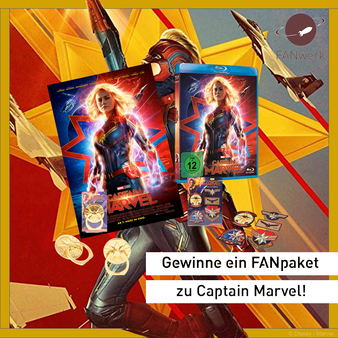 Captain Marvel Blu-ray Verlosung Gewinnspiel FANwerk Giveaway