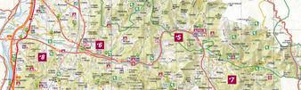plattegrond Vallei van de Drôme Diois