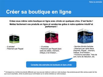 Guide Jimdo - Boutique en ligne