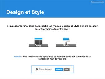 Guide Jimdo - Design et Style