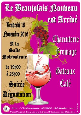 Affiche : Comité des Fêtes de Béthancourt-en-vaux.