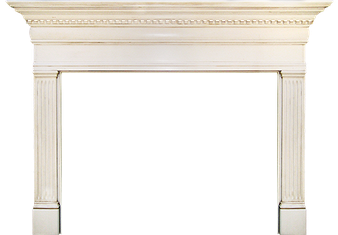 Omaha's Hazelton Wood Fireplace Mantel