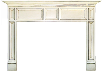 Las Angeles' Windsor Wood Fireplace Mantel