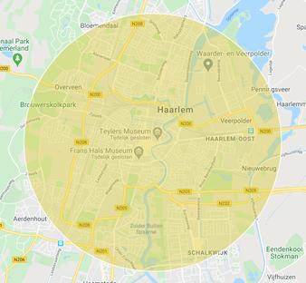 Bezorgregio Haarlem