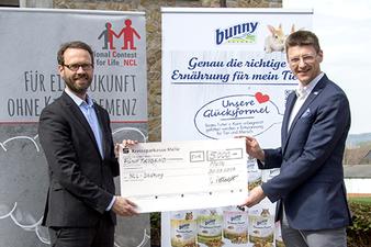 Scheckübergabe der Bunny Tierernährung GmbH