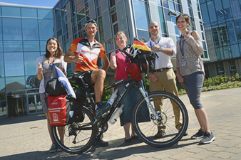 Jan Hähnlein auf seiner Radtour von Erfurt nach Schottland