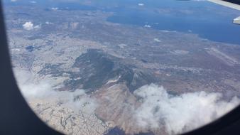 Flug über Athen