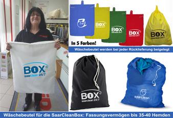 mueden.de, Verpackung, Lieferservice, Bild Schmidt mit Wäschesack