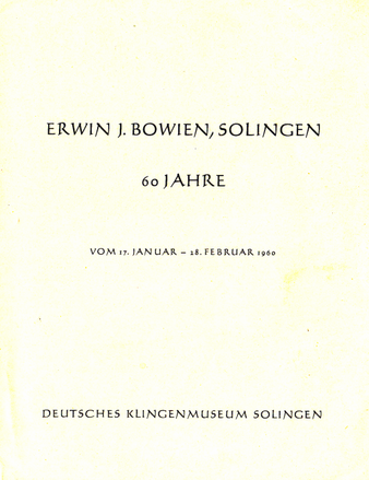 Erwin Bowien, 60 years old