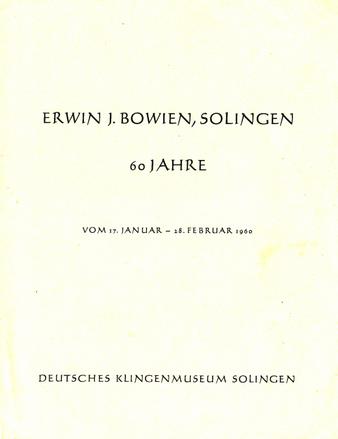 Erwin Bowien, 60 Jahre