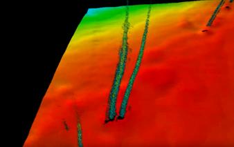 メタンプルーム【3D画像】かなりの量のメタハイが噴出しているように見えるが...