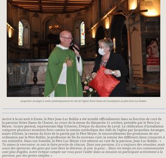 Article du Courrier de la Mayenne