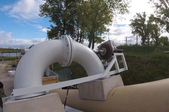 2-Kammern-Organismenwanderhilfe mit Turbine