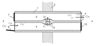 2-Kammern-Organismenwanderhilfe Standard-Verschaltung