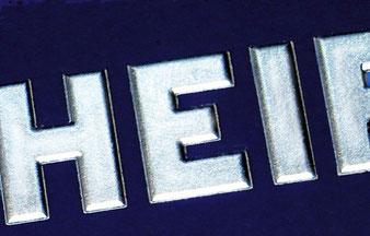 3d Text Relieftext Prägetext Und Co Printservice Vetter