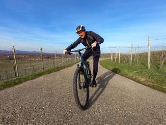 Testfahrer und Belchenradler Christof Steier