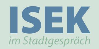 "Logo ""ISEK im Stadtgespräch"""