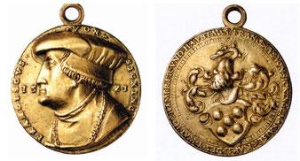 Goldmedaillon des Franziskus von Sickingen 1521