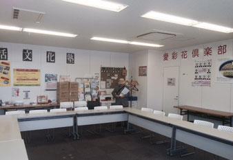 ☆今回のご招待の目的は教室のご担当に山根の紹介でした。会場風景。窓越しの眼下に神田川が見えます。