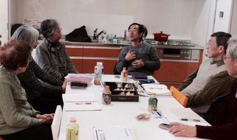 ☆石塚 完研究員さん5か所の報告。写真正面真ん中のメガネの男性。