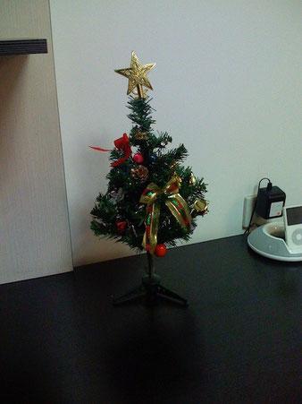 Weihnachts-Deko, von meinen Mitarbeitern organisiert. 2007.