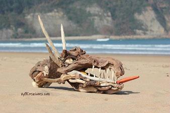 driftwood dragon, escultura dragon, maderasdelmar.com, madera de mar