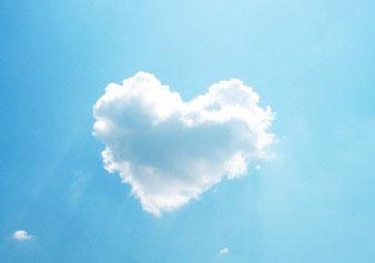 4、ハートの雲