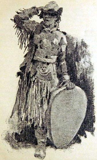 Шаманъ, высматривающій вызываемыхъ имъ духовъ