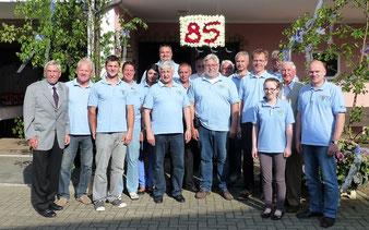 Ständchen zum 85. Geburtstag 2015 mit Jubilar Josef Klein.