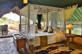 Самый популярный у туристов кемпинговой в парке Амбосели Kibi Safari Camp