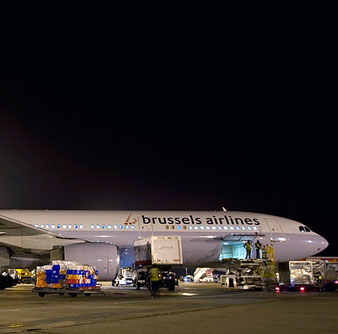 Air freight is an important contributor to Brussels Airlines' turnover  -  courtesy SN