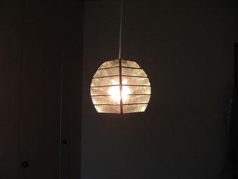 四面体に少しカーブを付けたランプ