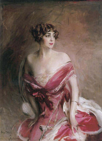 Giovanni Boldini, La dame de Biarritz, 1912, olio su tela. Collezione privata