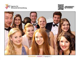 Studententeam der Universität Bochum auf der GreenTec Awards Gala mit Preisverleihung