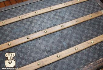 wooden slat top of trunk Louis Vuitton
