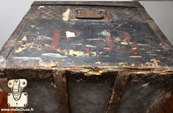inventory on louis vuitton trunk old canvas damaged rare