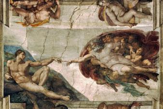 Michelangelo: Beseelung Adams
