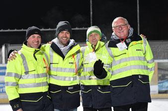 """Siegerteam """"Die Eisstocktechniker der SWN"""": Herr Ulrich, Herr Pöllath, Herr Barth, Herr Geitner Foto von SWN – Frau Melanie Sedlatschek"""