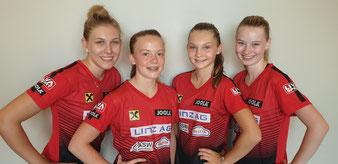 v.l. Team Leaderin Sophia Kellermann 20, Marlene Kühberger 14, Lena Matitz 14, Romy Reiter 16