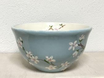 Müslischale im zitronengold - Keramik bemalen selbst bemalt