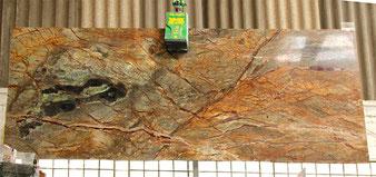 Fan Brown, braun-grüner Marmor
