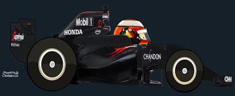Stoffel Vandoorne by Muneta & Cerracín -   McLaren MP4-31 - Honda RA616H V6