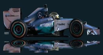 Nico Erik Rosberg by Muneta & Cerracín - Nico Rosberg del Mercedes AMG Petronas F1 Team con su Mercedes W05
