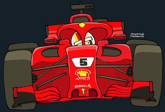 Sebastián Vettel by Muneta & Cerracín