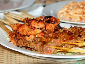 Cibo e cucina in Indonesia. Satay